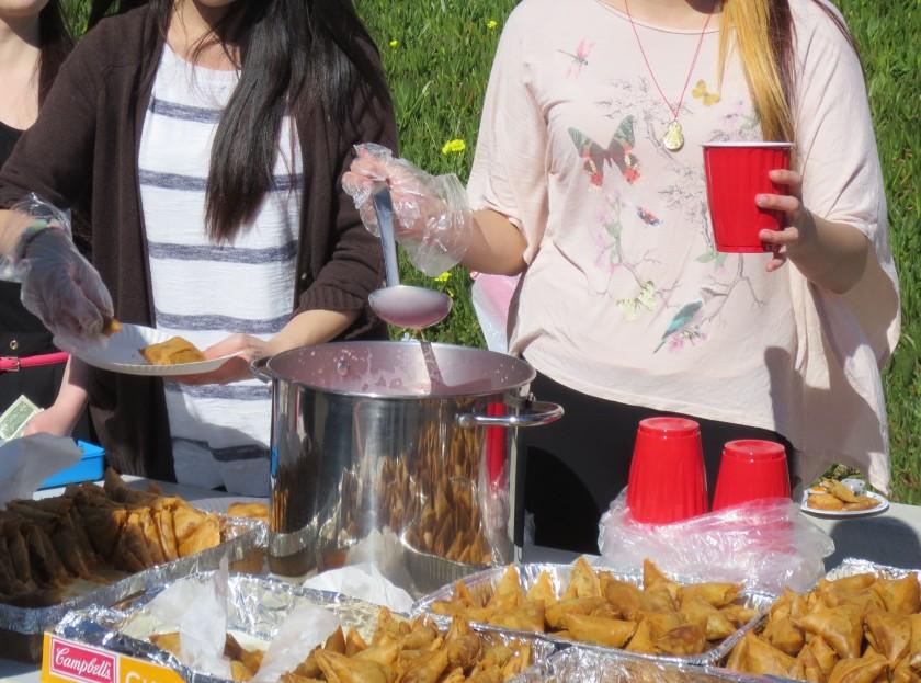 Selling samusas & paluda at International Foods Day