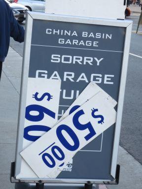 Garage Full Sign