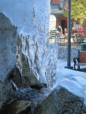 Ice on fountain-Tahoe