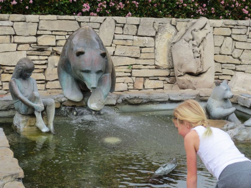 Girl at Bear Fountain