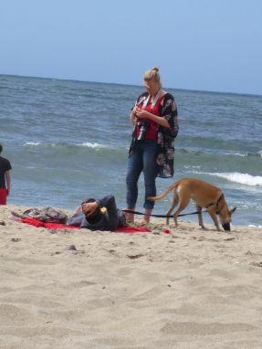 Reclining Man, Woman & Dog