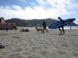 Surfer Couple Leaving