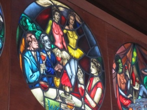 Distillery Stain Glass Dancers 2