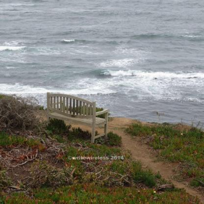 Lone Bench on Sea Cliff, Moss Beach