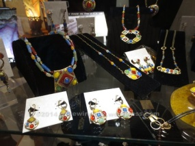Colorful jewelry at a shop