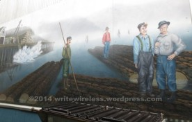 A mural at the dock