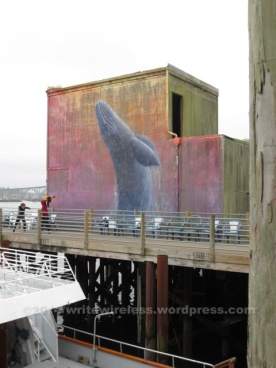 Whale mural at the pier