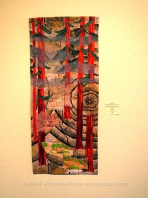 Ghosts of Guerneville: Redwoods & Cinnabar by Pamela Pilcher (Fiber Art)