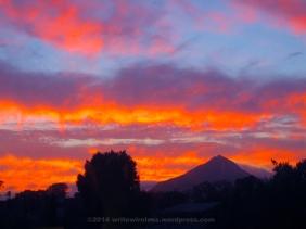 Evening Sky on Fire