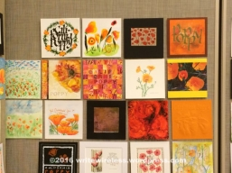 Art contest: California Poppies in calligraphy