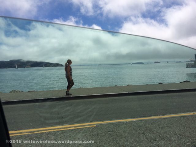 Girl on Sausalito Waterfront